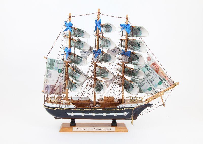 Корабль с деньгами на свадьбу 3